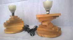 Macrocarpa bedside lamps twistys