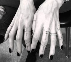 Finger Tattoos by Doctor Woo