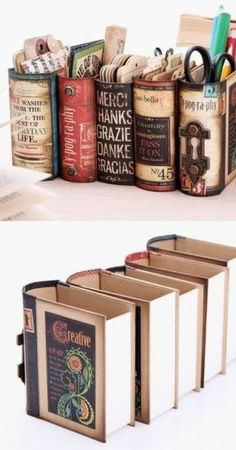 30 How to Reuse Old Book Ideas 31 – Style Female Crafts To Make, Fun Crafts, Arts And Crafts, Paper Crafts, Old Book Crafts, Book Page Crafts, Book Projects, Craft Projects, Craft Ideas