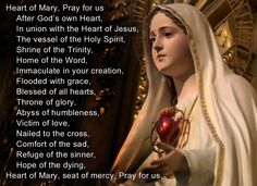 June 28, 2014 is the feast day of the Immaculate Heart of Mary