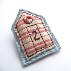 Beach hut pin