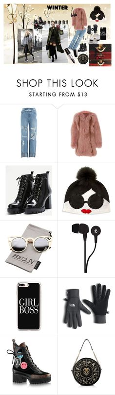 """""""WINTER"""" by mila-martin ❤ liked on Polyvore featuring SJYP, J. Mendel, Alice + Olivia, ZeroUV, Skullcandy, Casetify, The North Face and Preciously"""