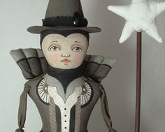 Folk Art Wich Doll