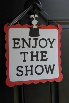 Magic Door Sign, Magic Party Supplies, Magic Welcome Sign, Enjoy the Show. $12.00, via Etsy.