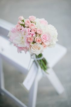 Pink Bouquet Ceremony Chair Marker