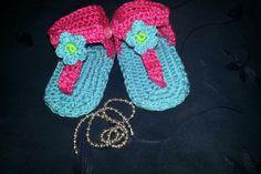 coquetas sandalias para las princesas tejidas a crochet
