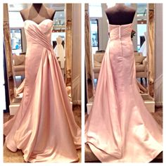 New arrival from Jovani. Perfect for the red carpet. Available in Blush and Navy.