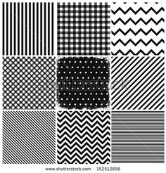 Set of seamless backgrounds and a grunge frame (on the middle square).  - stock vector