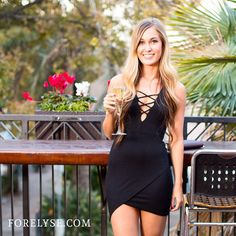 Be bubbly like #champagne! #FEGirl #nightout #lbd #dress // ForElyse.com