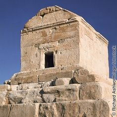 Tomb of Cyrus in ruins of Pasargatdae, present day Iran