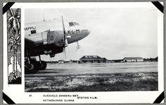 Vliegveld Zanderij met station K.L.M. 1945-1955