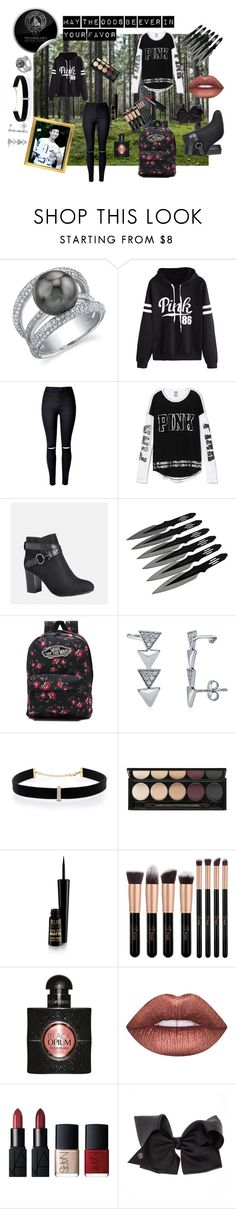 """""""Rap monster The Hunger Games (district 3)"""" by neehaarfat ❤ liked on Polyvore featuring WithChic, Victoria's Secret, Avenue, Vans, BERRICLE, Witchery, Yves Saint Laurent, Lime Crime, NARS Cosmetics and SIWA"""