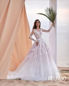 Bridal collection Belfaso 2020 - wedding dress insp. Summer bride Low Cut Dresses, Dresses With Sleeves, Formal Dresses, Bridal Collection, Dress Collection, Mermaid Shorts, Wedding Gowns, Ball Gowns, Evening Dresses