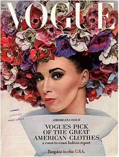Spring flowers. Vintage Vogue magazine covers - Vintage Vogue February 1964 - Wilhemina.jpg