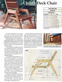 Deck Furniture Plans - Outdoor Furniture Plans