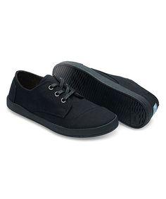 Look at this #zulilyfind! Black Canvas Paseo Sneaker #zulilyfinds