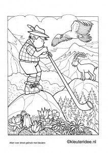 Kleurplaat Oostenrijk 2 Kleuterideenl Austria Coloring Free Printable