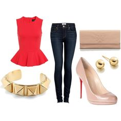 A well fitted pair of #Denims #Red #Accessories  #Fashion #Style #Combination