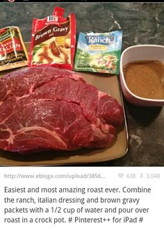 We made this and substituted Au Jus for the brown gravy. It was really delicious.