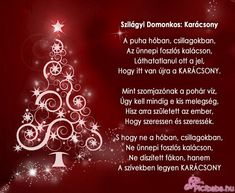 karácsonyi üdvözlet - Google keresés Merry Christmas, Christmas Time, Happy Day, Happy New Year, Words For Girlfriend, Name Day, Christmas Decorations, Christmas Ornaments, Cool Words