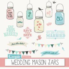 Hey, I found this really awesome Etsy listing at http://www.etsy.com/listing/154138700/mason-jars-wedding-clipart-wedding-mason