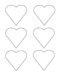Free Printable Heart Templates – Large, Medium & Small Stencils to Cut Out -