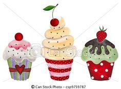 Banco de ilustração - jogo, Cupcakes - estoque de ilustração, ilustrações royalty free, banco de ícone clip arte, banco de ícones clip arte, fotos EPS, fotos, gráfico, gráficos, desenho, desenhos, imagem vetorial, arte vetor EPS.