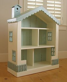 Dollhouse bookcase for little girl's room!!! This would be so easy to DIY!!!