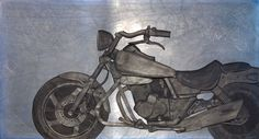 Rider,  225x122cm,  frottage(rubbing) black lead on paper & steel plate