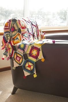 crochet eclectic afghans - Google Search