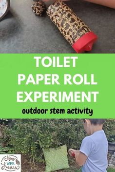 Outdoor stem activities are great for learning while having fun and this toilet paper roll experiment is such a fun outdoor activity for kids of all ages! Educational Activities For Kids, Nature Activities, Outdoor Activities For Kids, Steam Activities, Preschool Science, Science Activities, Kids Craft Supplies, Diy Projects For Kids, Cute Kids Crafts