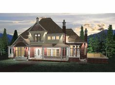 Eplans Queen Anne House Plan - Six Bedroom Queen Anne - 4180 Square Feet and 6 Bedrooms from Eplans - House Plan Code HWEPL68469
