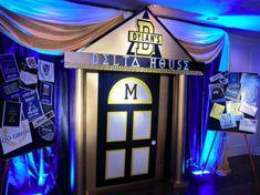 Fun decor with #blue #uplighting for #bidday!  #Greeklife #recruitment #GoGreek #sorority #fraternity #rentmywedding #diy #TSM #TFM #addachaptertoyourlife