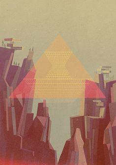 Mountain - Beautiful Modernist Illustrations of Matthew Lyons