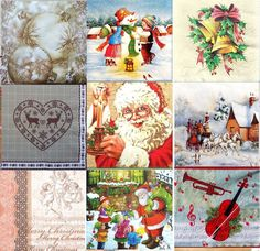 Pack of 20  Lunch Table  Paper Napkins Party Decoupage Christmas Xmas Mix  7