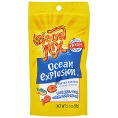 Meow Mix Ocean Explosion Cat Treats, 2.1-oz. Bags