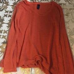 Orange long sleeve sweater Orange long sleeve sweater Tops Tees - Long Sleeve