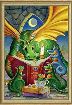Even Dragons like to read. Randal Spangler?