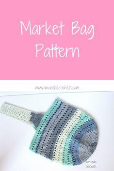 Market Bag Pattern - Amanda Crochets : Crochet Farmer's Market Tote Bag using Caron Cotton Cake yarn. Crochet Market Bag, Crochet Tote, Crochet Handbags, Crochet Purses, Crochet Crafts, Crochet Projects, Crochet Afghans, Crochet Slippers, Crochet Blankets