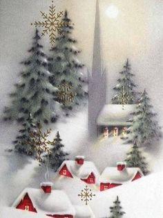 Old Christmas Post Cards — Vintage Vintage Christmas Images, Old Christmas, Christmas Scenes, Retro Christmas, Christmas Pictures, Christmas Greetings, Christmas Holidays, Christmas Decorations, Christmas E Cards