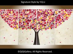 Red and Yellow art wall art Acrylic abstract by QiQiGallery