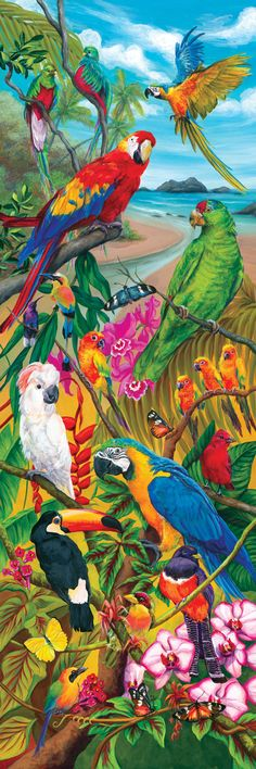 Garden Living series come in a space saver box, with tall, panoramic puzzles in half the space! 500 pieces. Finished sizes vary. Released 2012.