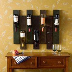 Wine rack made from pallets wood wine rack swish wooden pallet wine rack plans pallet wood Unique Wine Racks, Wood Wine Racks, Wooden Pallet Furniture, Wooden Pallets, Garage Furniture, Pallet Walls, Furniture Decor, Vin Palette, Wine Rack Plans