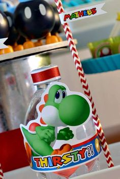Sweet Memories Party D's Birthday / Super Mario Bros - Photo Gallery at Catch My Party Super Mario Birthday, Mario Birthday Party, Super Mario Party, 1st Birthday Parties, 7th Birthday, Birthday Ideas, Super Mario Brothers, Super Mario Bros, Yoshi