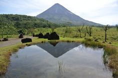 Arenal Volcano reflection on lake at Arenal Volcano National Park - http://www.govisitcostarica.com/travelInfo/photo-gallery.asp?tag=volcanoes