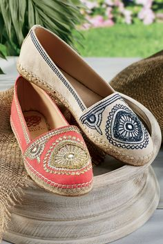 Vince Camuto's Corsica Espadrilles are awash in worldly details, adding charm and interest to any summer look.