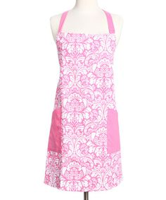 Look at this #zulilyfind! Pink Cosmo Damask Apron by Design Imports #zulilyfinds
