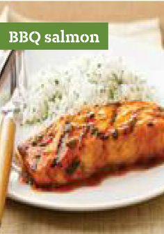 BBQ Salmon -- Bust out of your grilling routine with this easy, mouthwatering salmon recipe. Brown sugar and BBQ sauce combine for a sweet-savory experience. Plus, it's ready for the dinner table in just 15 minutes!
