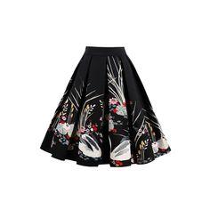 5b843e3658 Retro Floral Printed Summer Skirts Womens High Waist A Line Skirts, Pleated  Skirts, A. Luulla