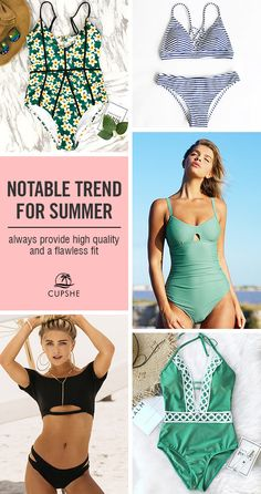 Beach confidence is swimwear that fits! Give yourself a fresh look on the beach with these hot-selling items. Each precious piece from Cupshe is exquisitely designed for the unique you. Get it, flaunt it.